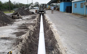Actual Pipe installation