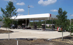 Circle K Gas Station - entire parking lot and access drives to the property